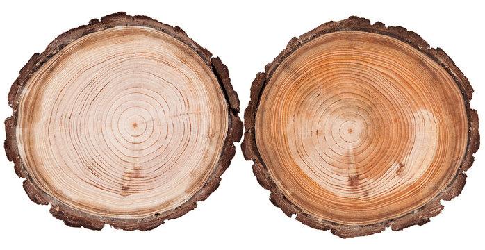 Round cut wood background