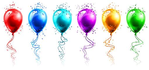 Obraz Kolorowe balony - fototapety do salonu