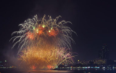 Pattaya International fire work in 2015, Fire work of thailand show, Pattaya Thailand 2015, For use new year 2016 work. ,International fire work competition, Fire work