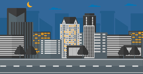 Background of modern city.