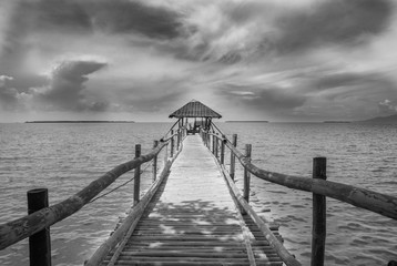 most na wodzie