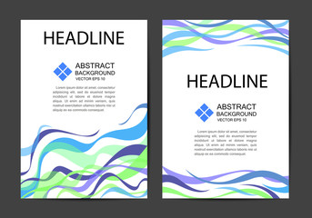 artwork design, vector / Abstract vector modern brochure