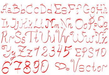 vector hand draw elegant English alphabet
