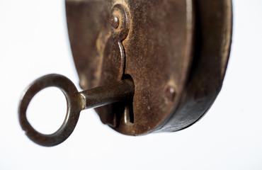 Rusty lock, old padlock