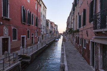 Venice streets, channels, water, boats and love