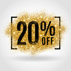 Gold sale 20% percent