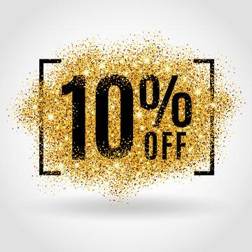 Gold sale 10% percent