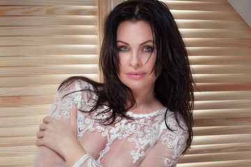 Portrait of sexy woman.