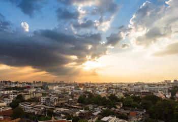 Bangkok cityscape near twilight