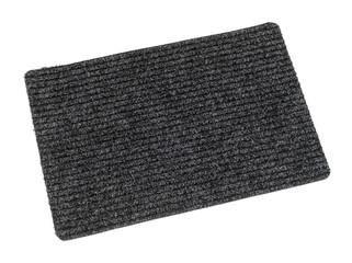 Gray door mat on white background