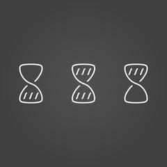 Hourglass wait set icons draw effect