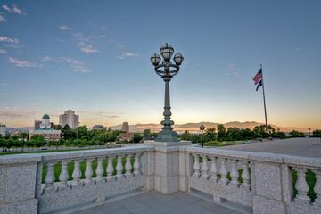 Fototapete - Salt Lake city sunrise from the capital
