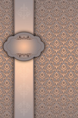 Wall Mural - Vintage background with elegant frame.