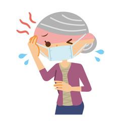 高熱を出すシニア女性