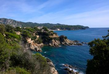Landscape near Cala Banys in Lloret de Mar, Catalonia, Spain