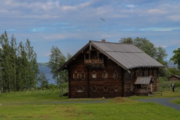 Wooden house, Kizhi, Russia.