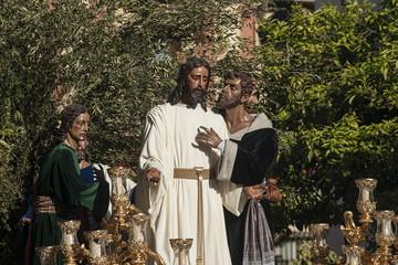 El beso de Judas, paso de misterio de la hermandad del Rocío, semana santa de Sevilla
