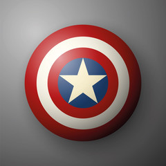 Shield with a star, superhero shield, comics shield