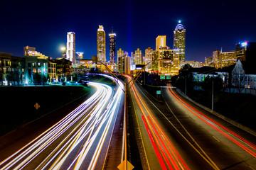 Time Lapse of Atlanta Traffic Fotobehang