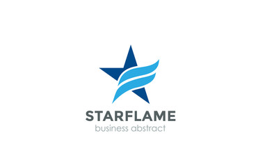 Corporate Blue Star flame Logo abstract design vector