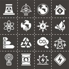 Vector Energetics icon set