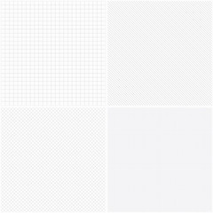 Set of vector grid seamless patterns.