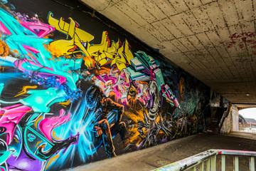 Graffiti: Unter der Brücke...
