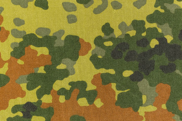 German military flecktarn camouflage fabric texture background