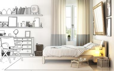 Schlafzimmereinrichtung (Entwurf)