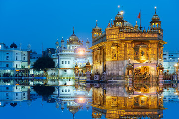 Wall Mural - The Golden Temple, located in Amritsar, Punjab, India.