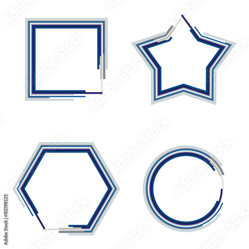 1e5086098bd set of cute geometrical frame. Vector illustration