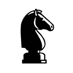 Black horse. chess