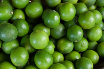 Lime. Citrus fruit. Green background.