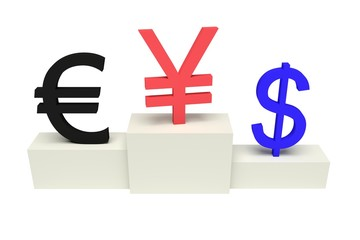top currencies, strong Yen, isolated