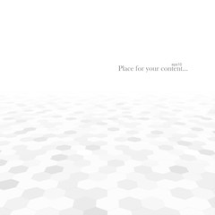 Abstract background with white shapes.
