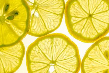 Zitronenscheiben,makro