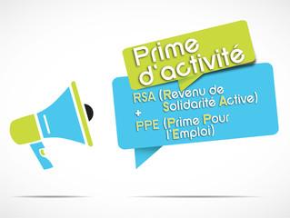 mégaphone : prime d'activité