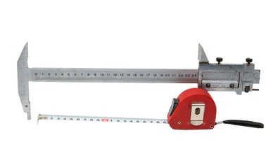caliper with a tape measure