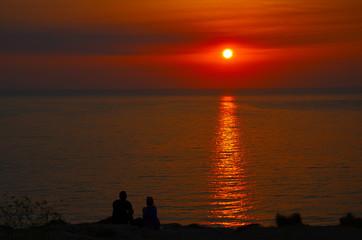 Romantic date during Sunset