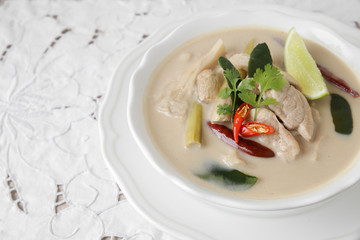 Tom Kha Gai , Thai Galangal chicken coconut soup
