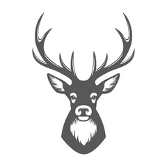 Deer head illustration