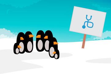 Penguin vector illustration