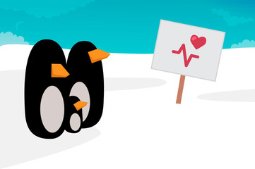 Penguin vector illustration
