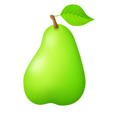 Pear green fruit food isolated illustration vector