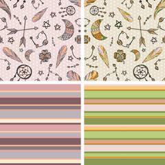 Seamless boho patterns