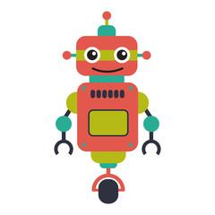 robot on wheel