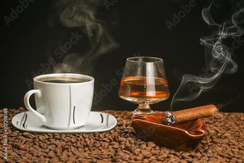 кофе зерна кружка дым бесплатно
