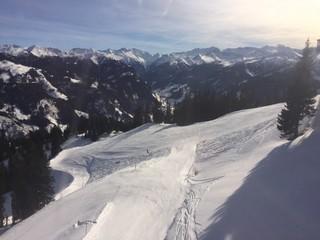 Traumhafte Skipiste, Großarltal, Österreich