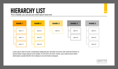 Hierarchy List Presentation Slide