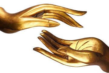Printed kitchen splashbacks Buddha Hand Buddha gold